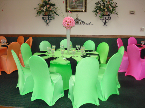 neon spandex chair covers