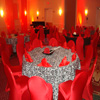 red spandex chair covers