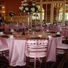 Party Decor pink ribbon chair covers
