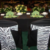 zebra chair covers