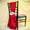 stylish red chair cover