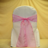 sheer pink chair cover sash